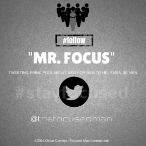 Focused Man Twitter Infographic